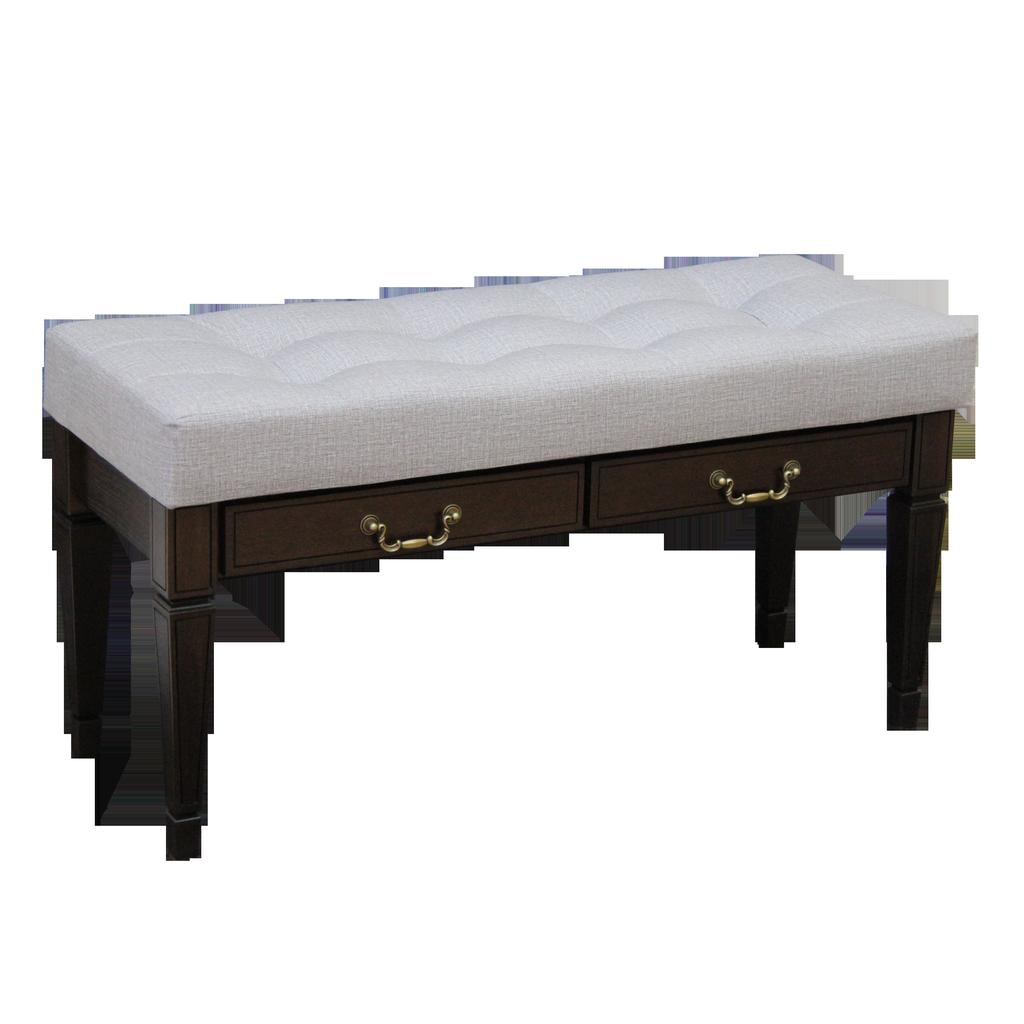 Банкетка Мебелик Васко В 98Н с ящиком Темно-коричневый/Патина