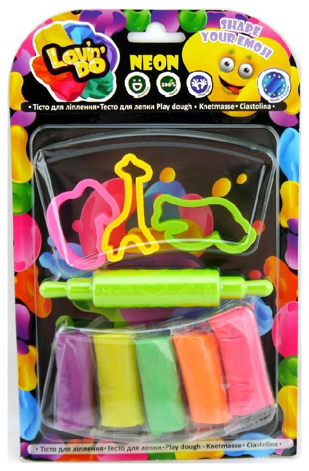 Купить LOVIN'DO Набор теста для лепки Неоновый Взрыв, 5 цветов ФФ31006, Лепка