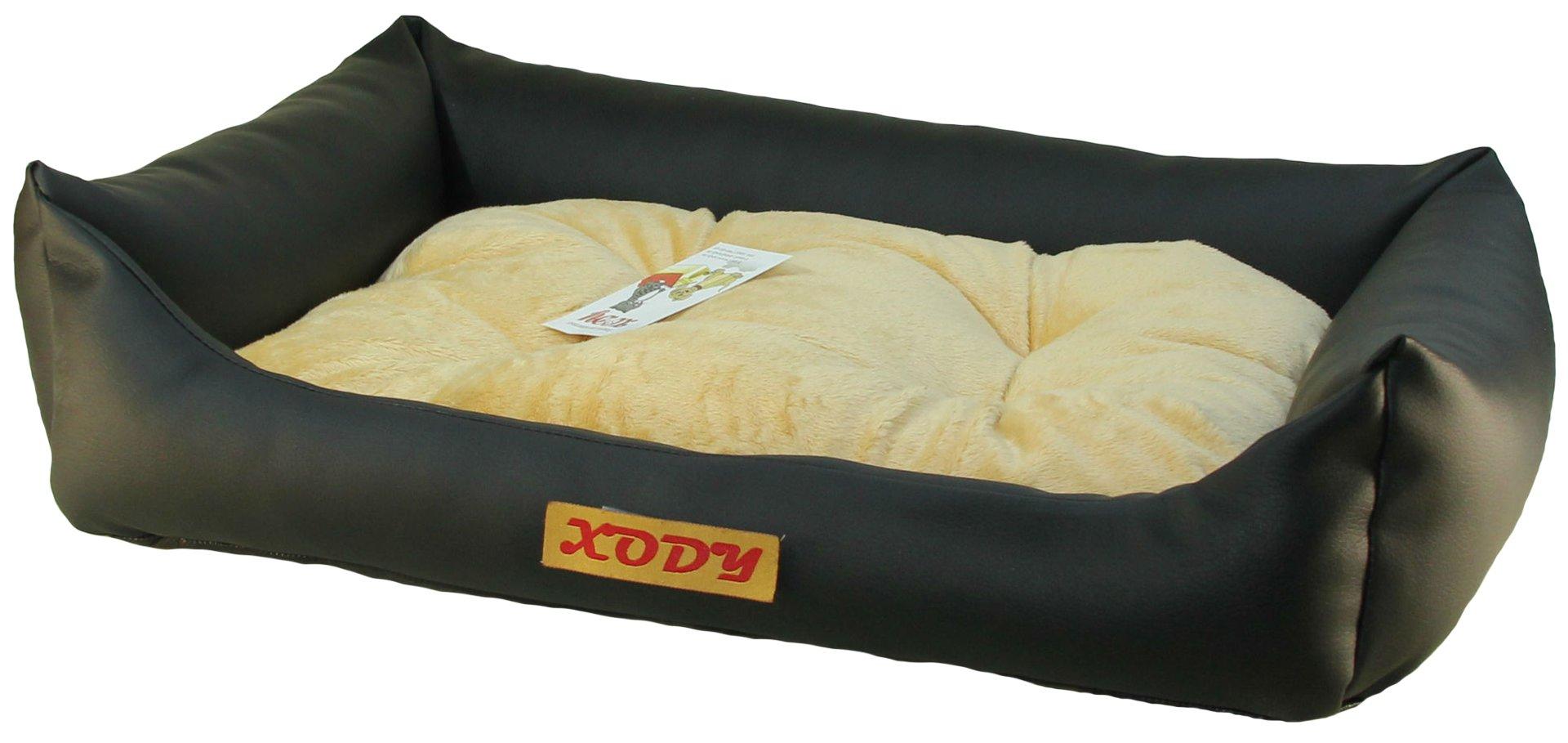 Лежак для собак Xody Люкс №6, кожа, 100х90х28 см