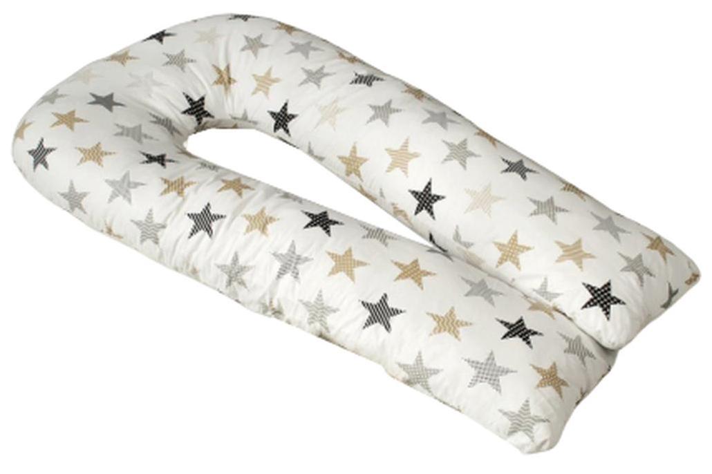 Подушка для беременных AmaroBaby Звезды пэчворк AMARO-40U-ZP