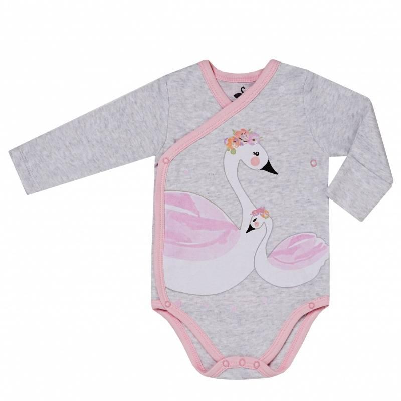 Купить DK-058, Боди Diva Kids, цв. серый, 56 р-р, Боди для новорожденных