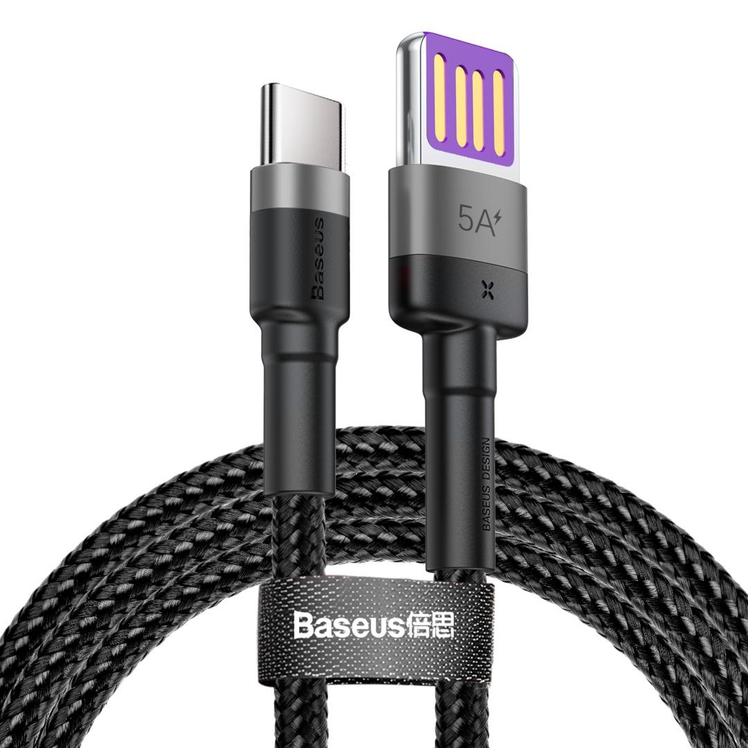 Кабель Baseus Cafule HW USB/USB Type C 1м (CATKLF-PG1)