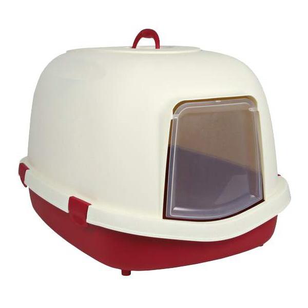 Туалет для кошек TRIXIE Primo, овальный, красный,