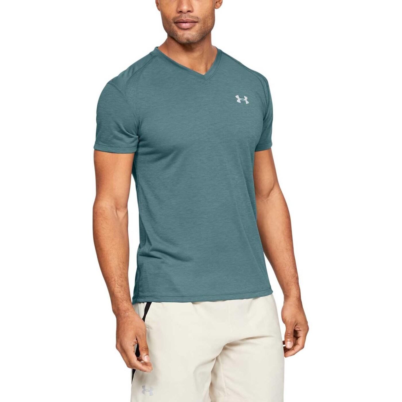 Футболка Under Armour Streaker V-Neck Short Sleeve, green, M INT