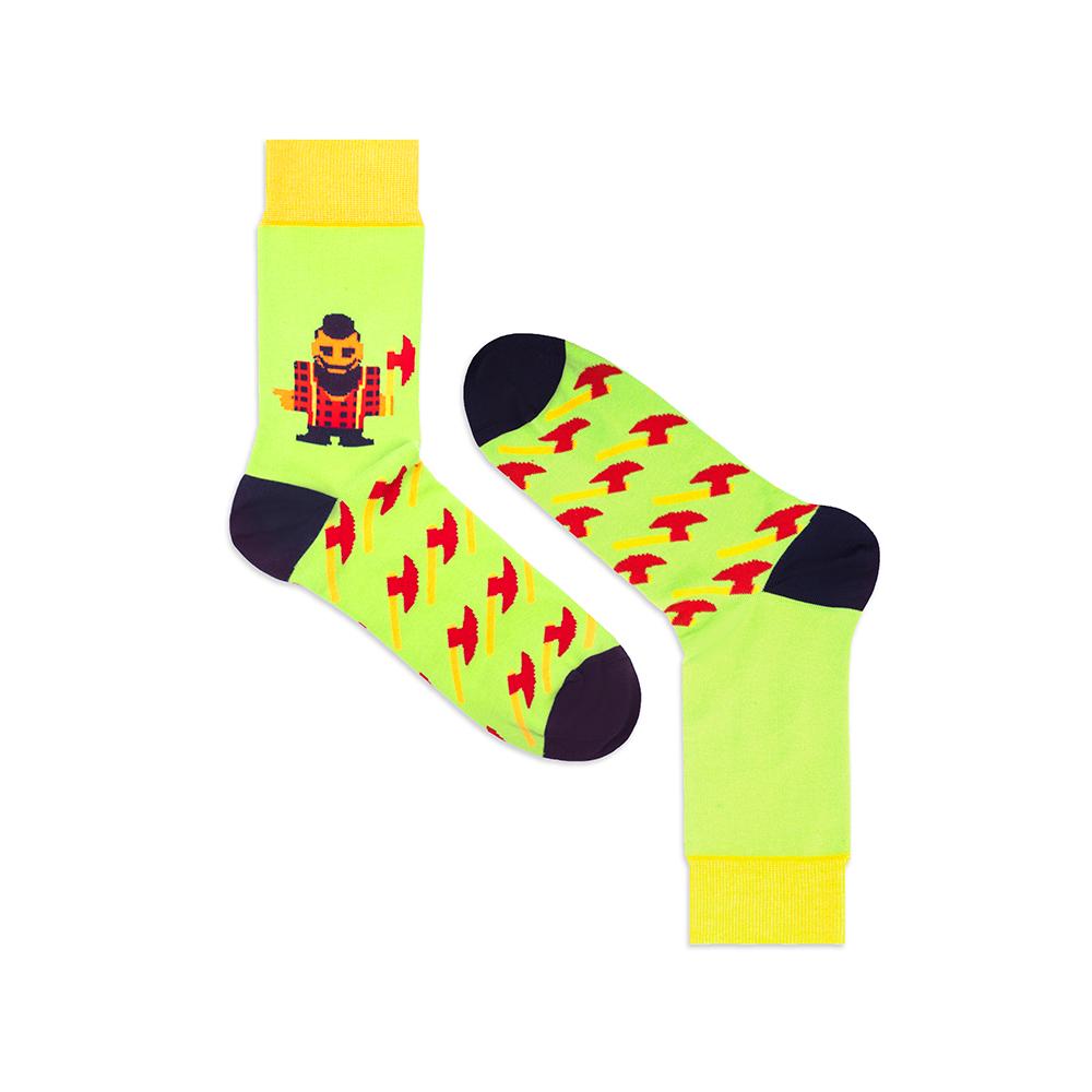 Носки унисекс Burning heels Ламберджек зеленые 39-41