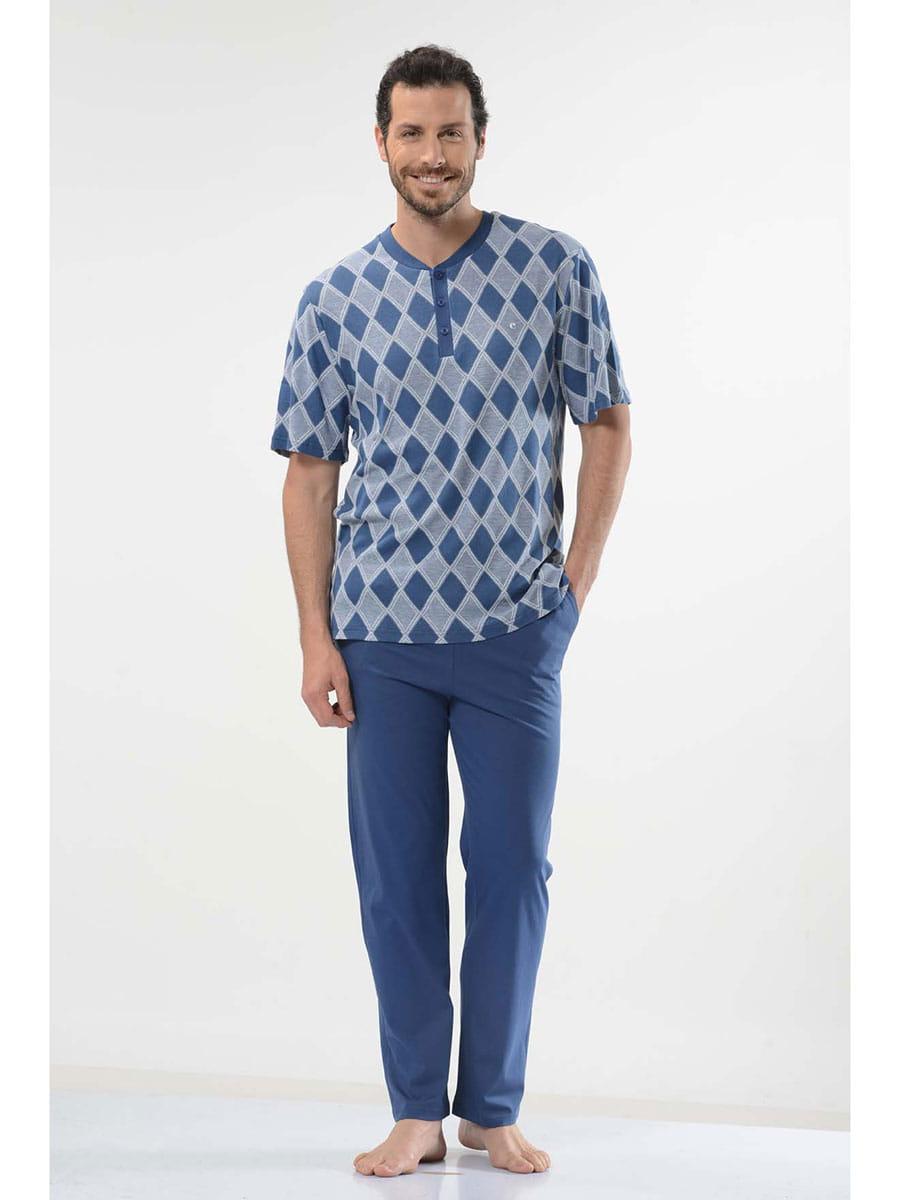 Пижама мужская Cacharel 2114 синяя M фото