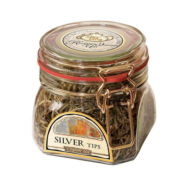 Чай весовой  зеленый Ти Тэнг silver tips в стекле 50 г