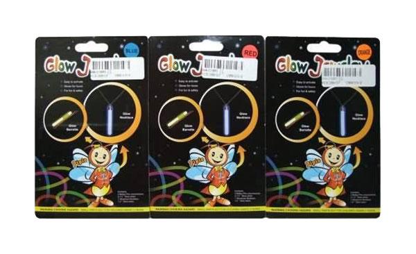 Заколка и ожерелье Junfa toys светящиеся T007