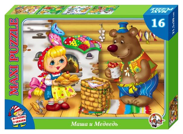 Купить Пазл Десятое Королевство Макси-пазл В гостях у сказки. Маша и медведь 01037ДК, Пазлы