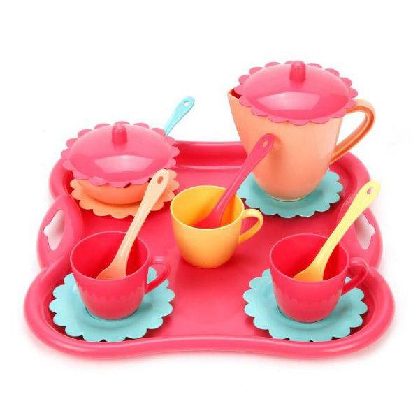 Купить Чайный набор с подносом Карамель 16 предметов 39497 Mary Poppins, Игрушечная посуда