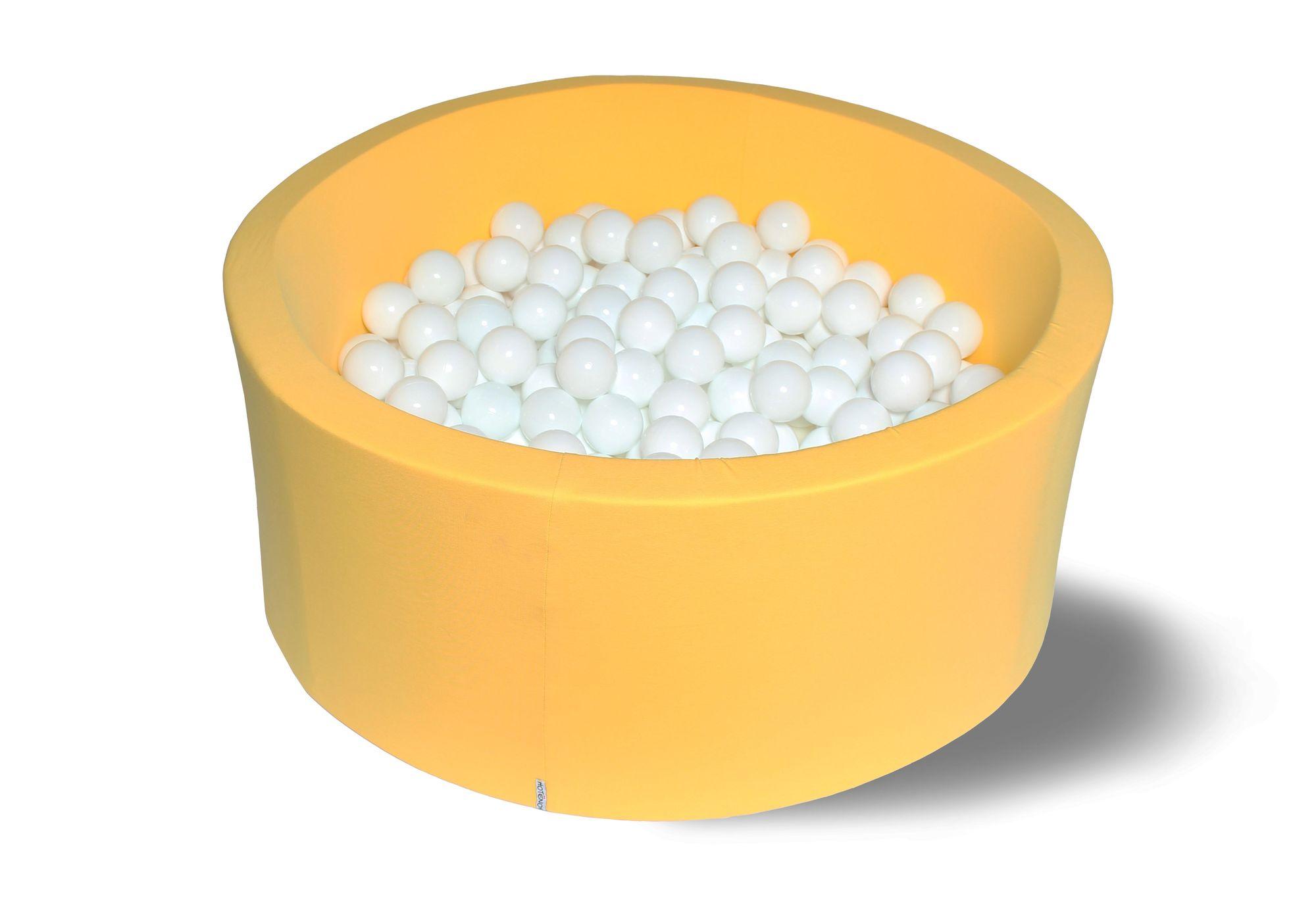 Сухой игровой бассейн Снег в лучах желтый