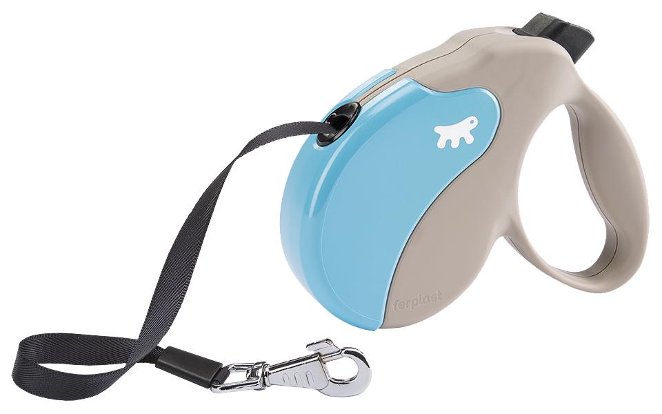 Поводок-рулетка Ferplast Amigo Tape 500см бежевый, голубой