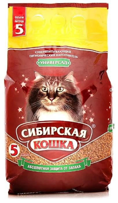 Впитывающий наполнитель для кошек Сибирская кошка Универсал