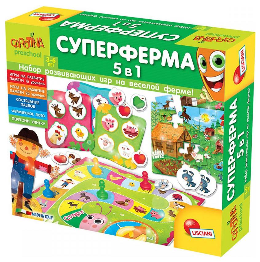 Купить Игра обучающая Lisciani Carotina Preschool Суперферма 5 в 1,