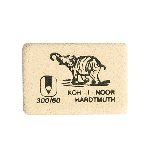 Ластик KOH-I-NOOR 300/60 каучук 30х20х8 мм белый, арт, 300/60