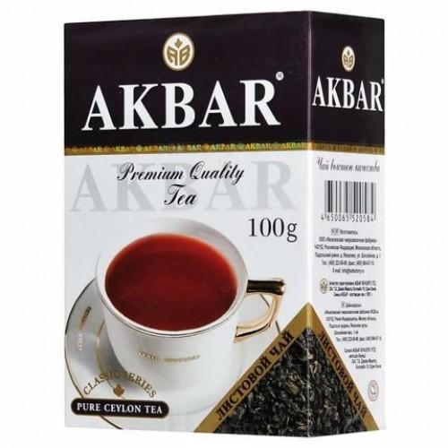 Чай черный листовой Akbar классическая серия 100 г фото