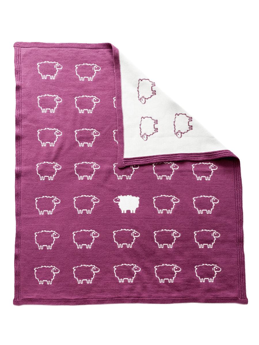 Плед детский Cloudlet Барашка фиолетовый