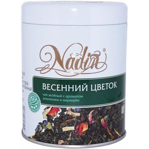 Чай зеленый листовой Nadin весенний цветок 75 г
