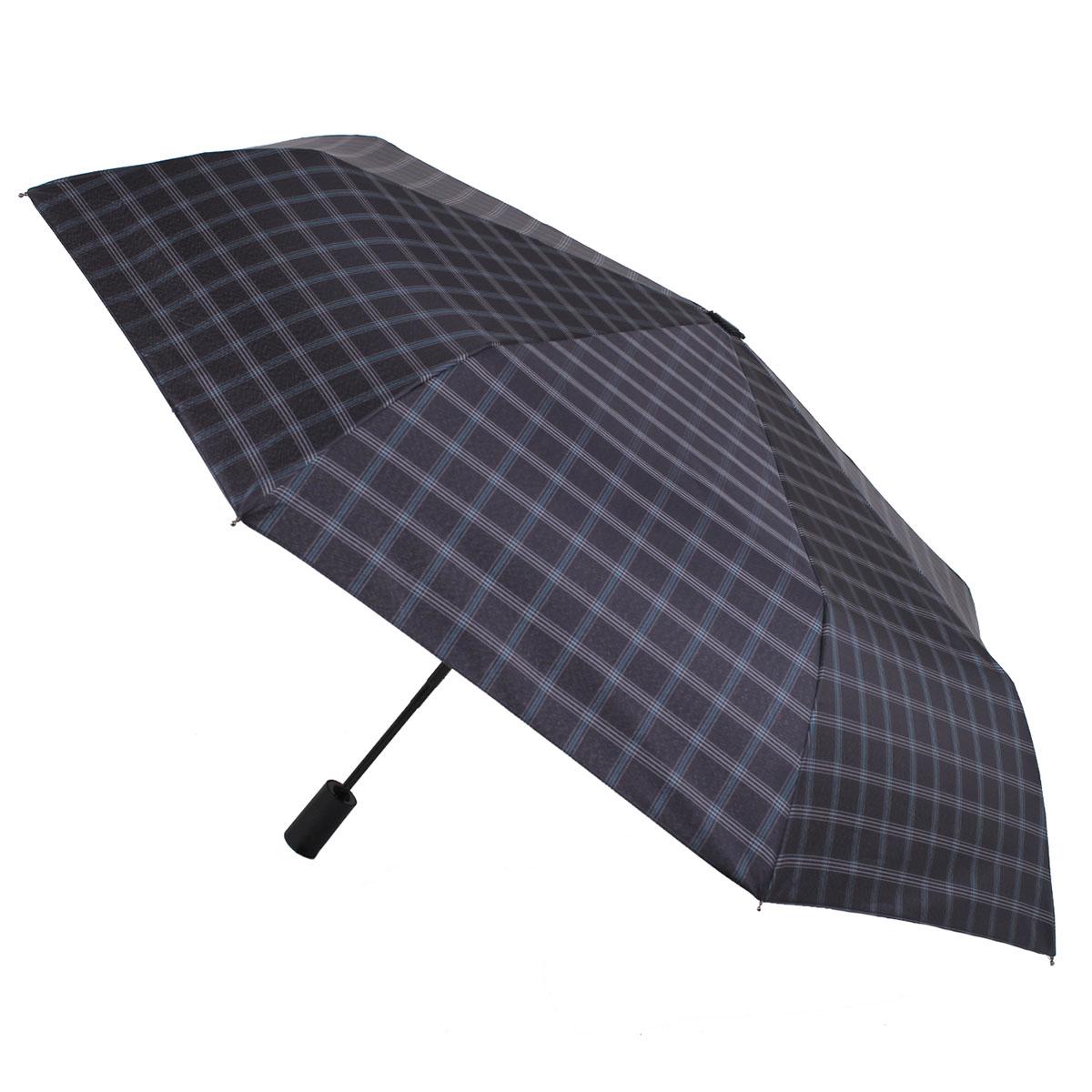 Зонт складной мужской автоматический Flioraj 00900303 FJ синий