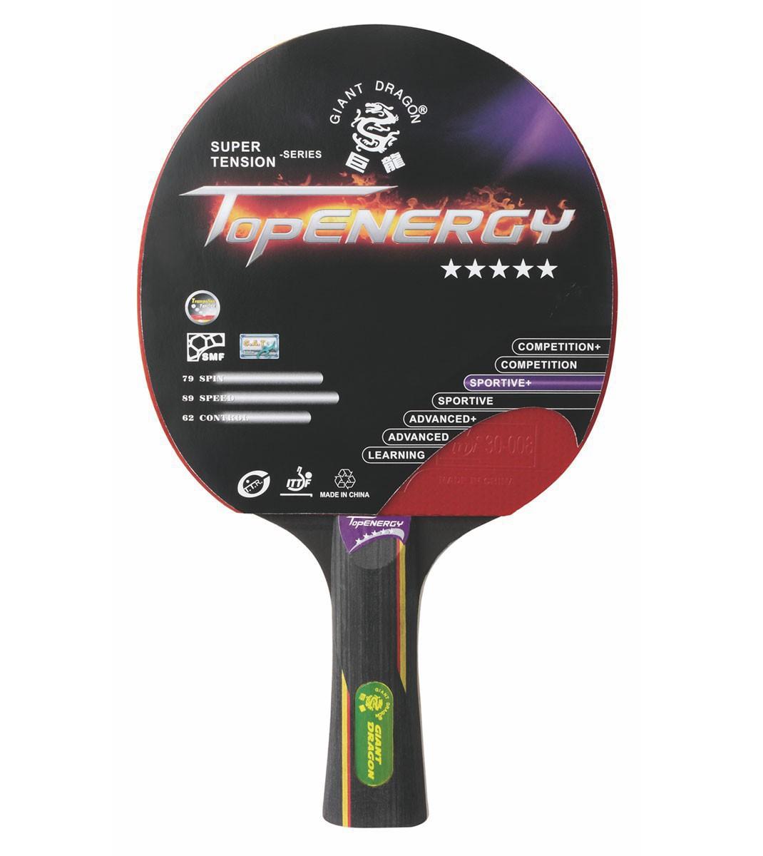 Ракетка для настольного тенниса Giant Dragon ST12501 TopEnergy, красная