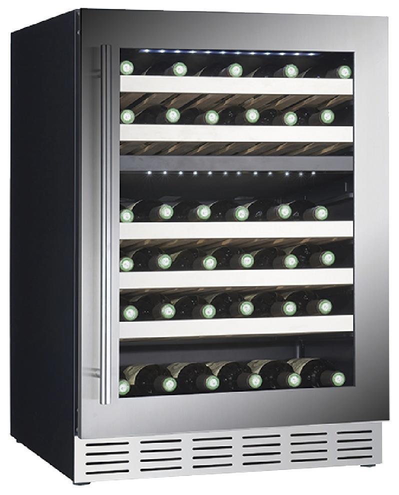 Встраиваемый винный шкаф Cavanova CV060DT черный серебристая дверца