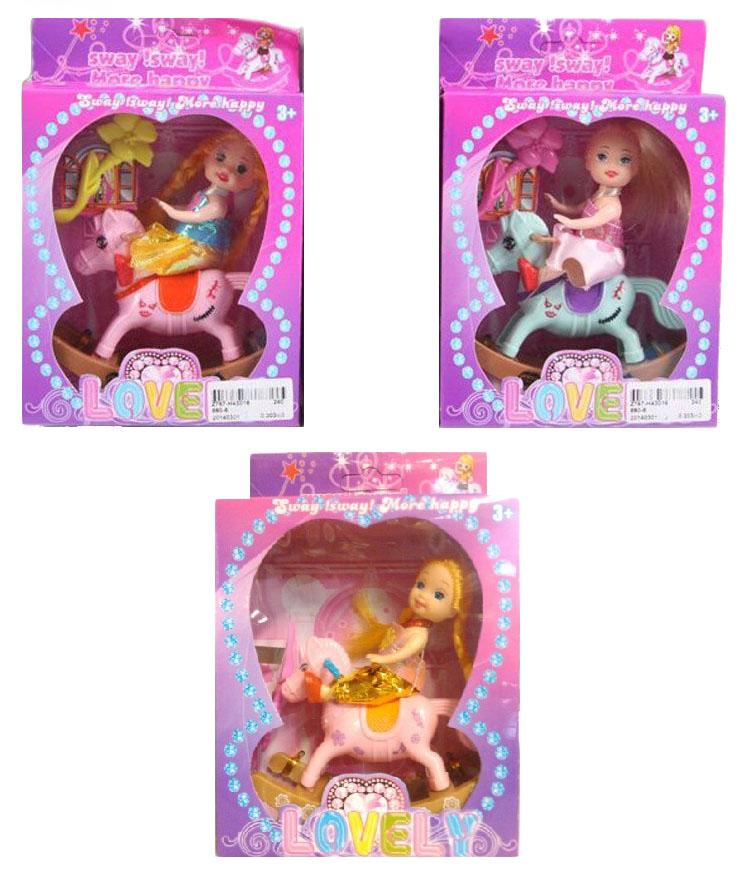 Кукла на качалке-лошадке Lovely в ассортименте