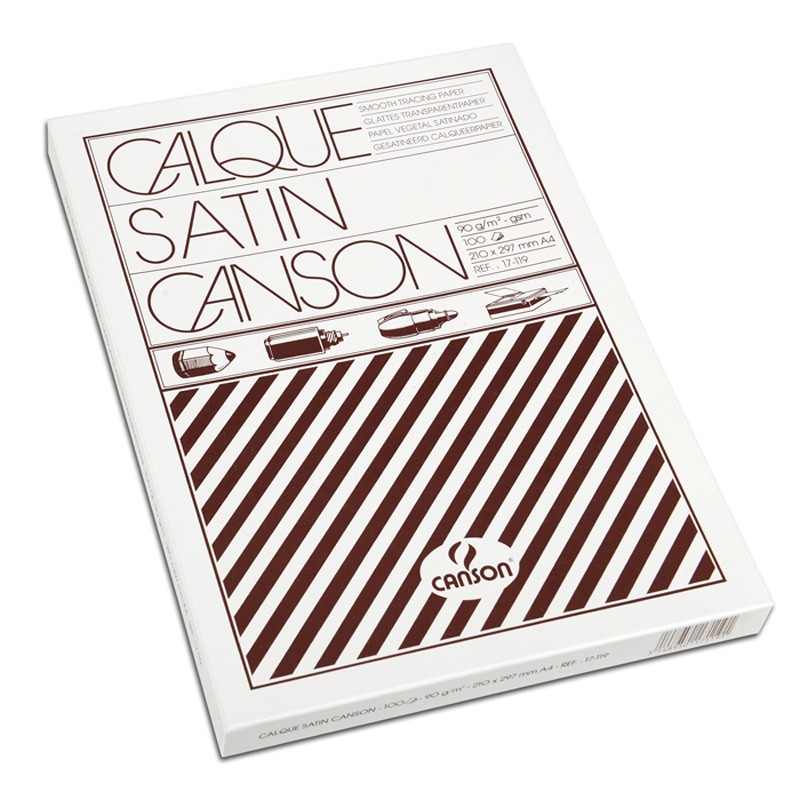 Canson Калька в коробке CANSON, 90г/м2, 21х30см (А4), 100 листов фото