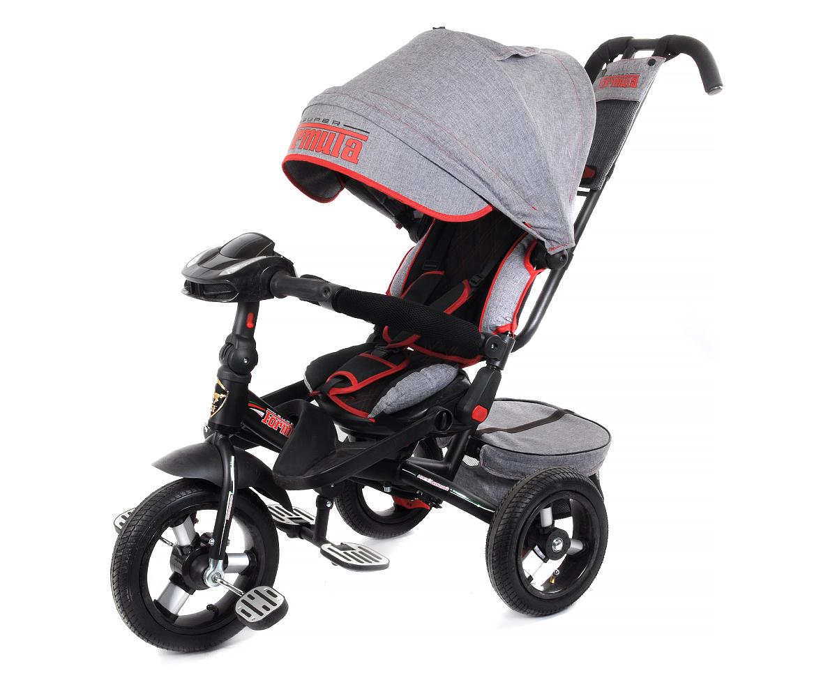 Купить Велосипед трехколесный Super Formula серый SFA3GB, TRIKE, Детские велосипеды-коляски