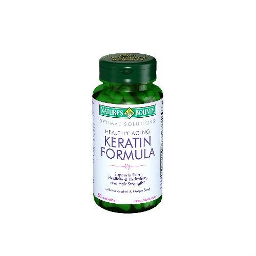 Купить Кератин формула 496 мг, Кератин формула Nature's Bounty 496 мг 50 капсул