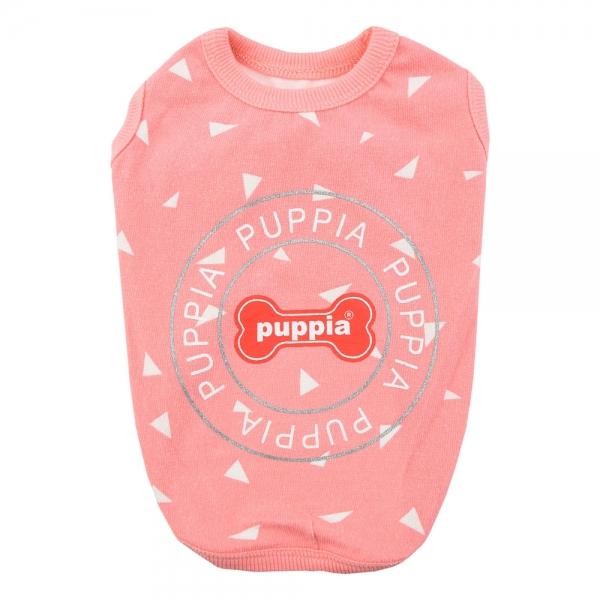 Футболка для собак Puppia SIMON розовая, размер S