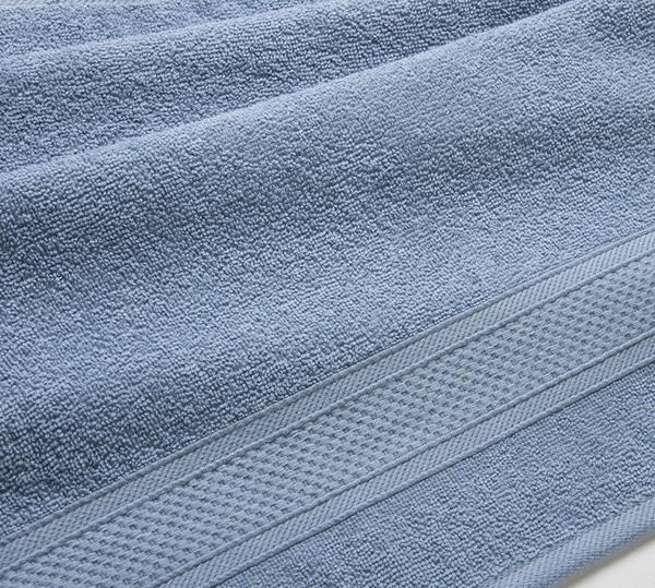 Полотенце махровое с бордюром (серо-голубое) 40х70