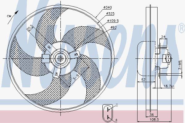 Вентилятор охлаждения двигателя NISSENS 85668