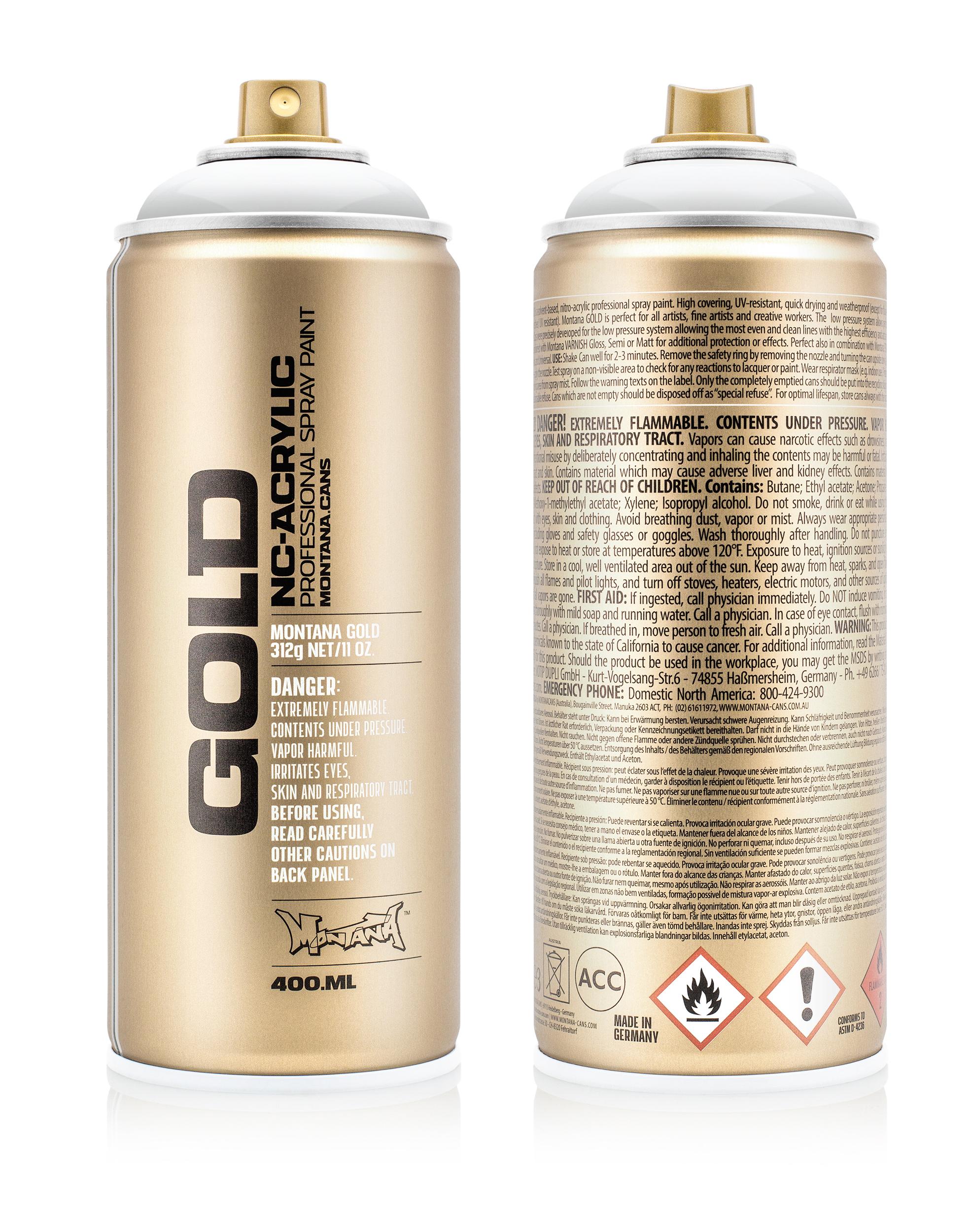Аэрозольная краска Montana Gold Transparent белый 400 мл