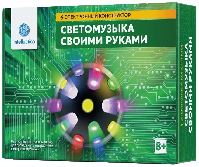 Купить Конструктор электронный Intellectico Светомузыка своими руками 1005, Детские конструкторы
