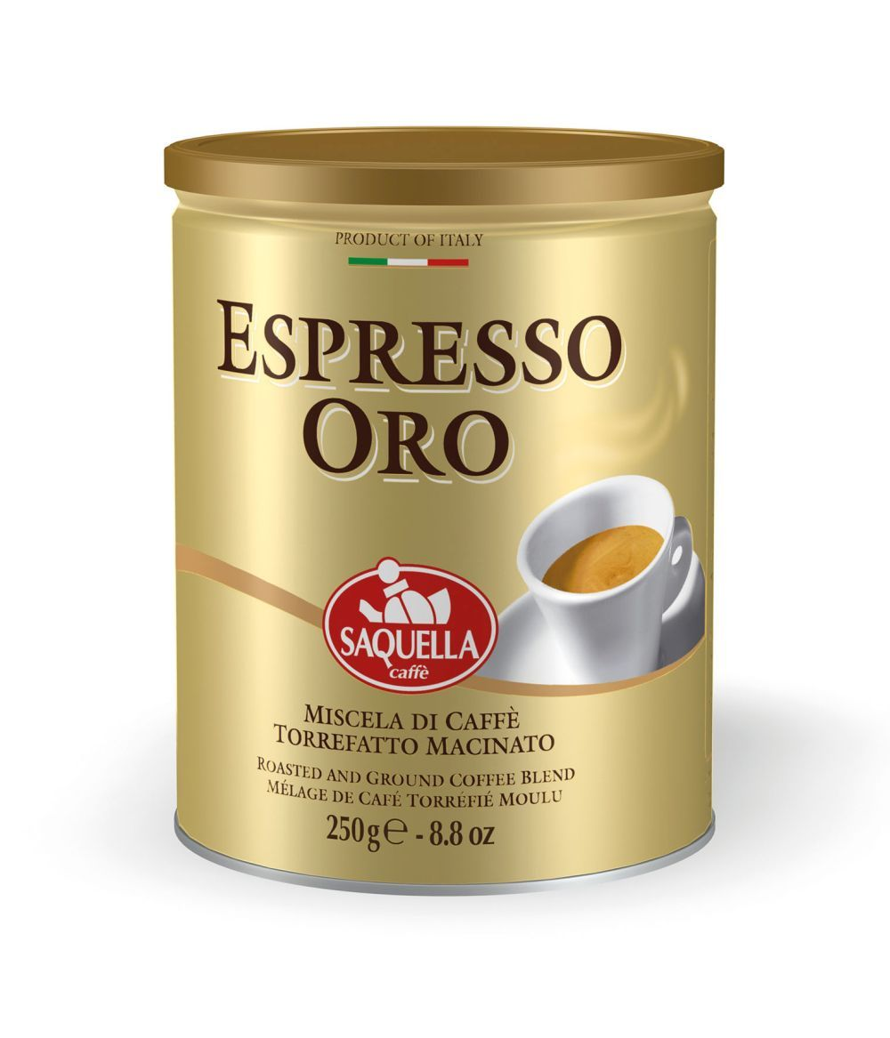 Кофе молотый Saquella Espresso Oro 250 г