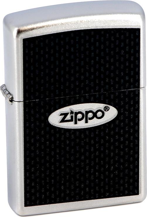 Зажигалка Zippo №205 Zippo Oval Satin Chrome фото