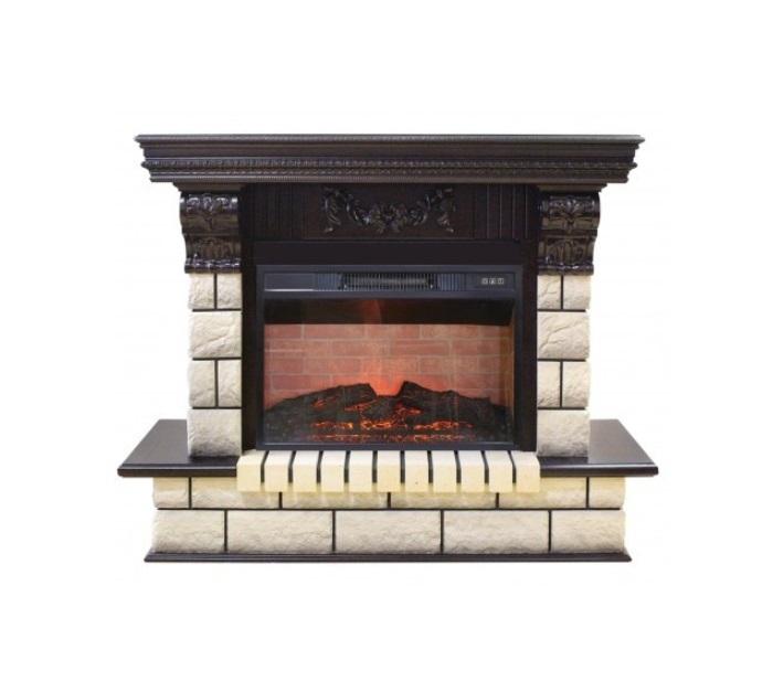 Современный камин для загородного дома Real-Flame Gracia 25'5/24 AO с очагом Irvine 24 фото