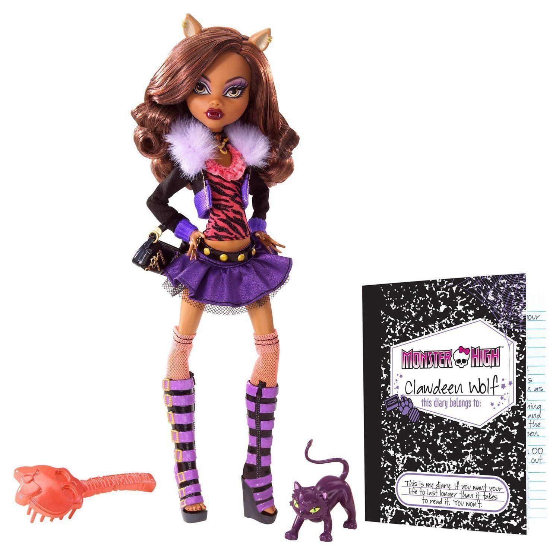 Купить Кукла Monster High Клодин Вульф - Базовая с питомцем BBC42, Куклы Monster High