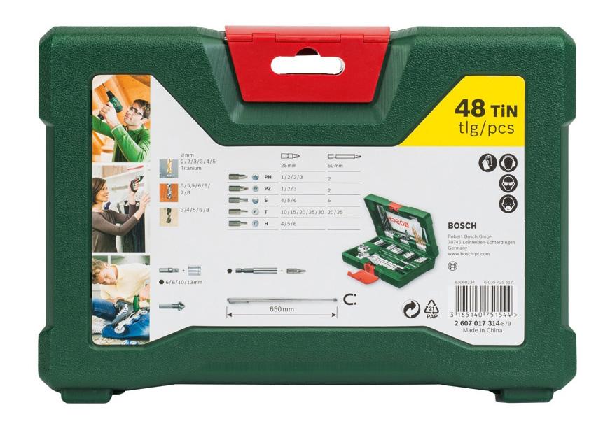 Наборы бит и сверл для дрелей, шуруповертов Bosch V-Line-48 2607017314 набор принадлежностей V-Line-48