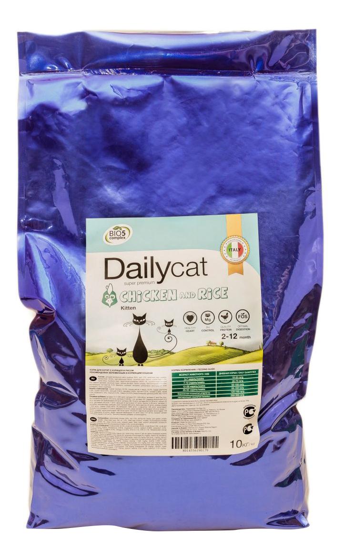 Сухой корм для котят Dailycat Kitten, курица