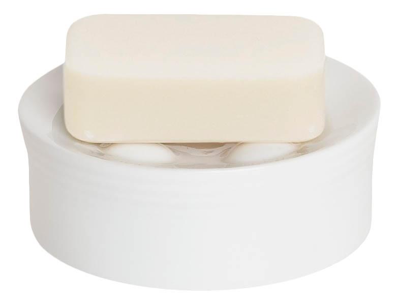 Мыльница Spirella Opera фарфор рельеф белый (1007714)