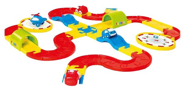 Купить Игровой набор Dolu Дорога с машинками, 54 детали, Машинки-трансформеры