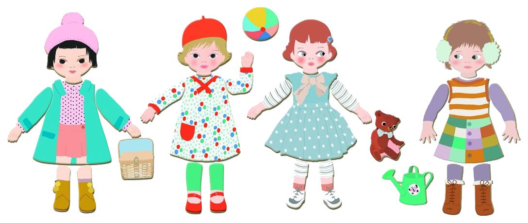 Купить Семейная настольная игра Djeco Мода, Магнитные настольные игры
