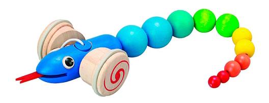 Купить Малая, Каталка Plan Toys Змейка , PlanToys, Каталки детские
