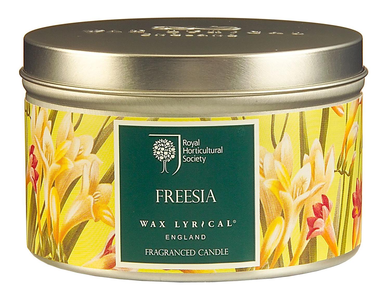 Ароматическая Wax Lyrical свеча RHS Fragrant Garden Цветущая фрезия RH5012