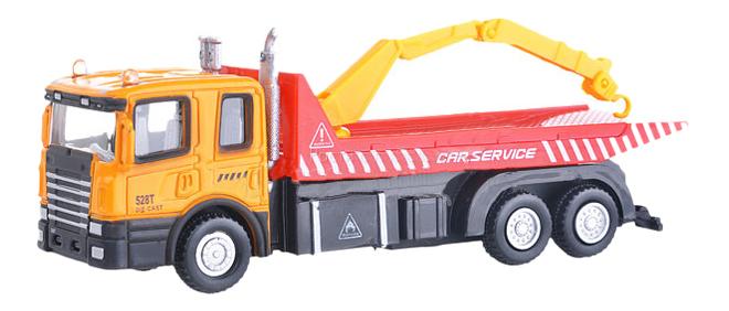 Купить Коллекционная модель Autotime Flatbed crane truck с манипулятором 1:48,