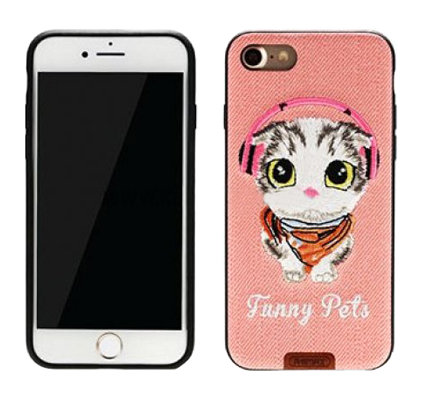 Чехол-накладка Remax Funny Pets для Apple iPhone 7 Розовый