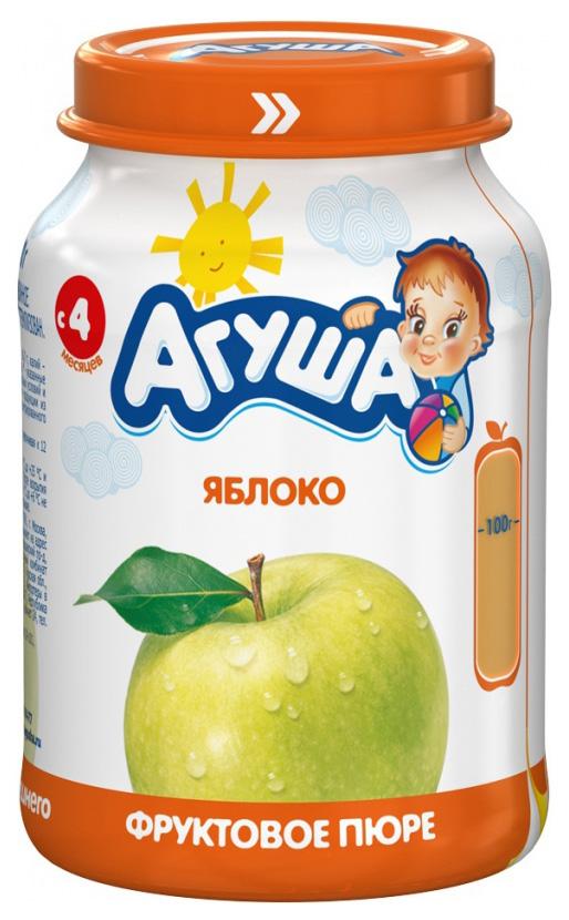 Купить Яблоко 200 г, Пюре фруктовое Агуша Яблоко с 4 мес 200 г, Детское пюре