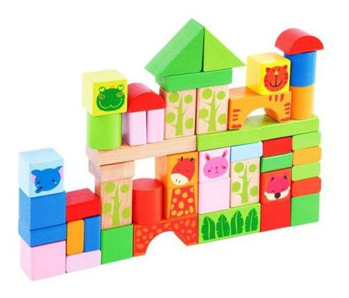 Купить Конструктор деревянный Mapacha 50 деталей, Наша игрушка, Деревянные конструкторы