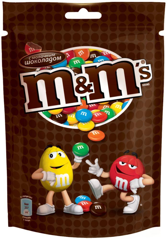 Драже  M#and#M\'s  с молочным шоколадом 130 г